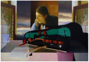 """The table of instruments VII"" - Oil on canvas - 46x65cm - 2006"